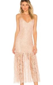 NWT NBD Brielle Pink Lace Slip Dress